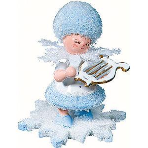 Kleine Figuren & Miniaturen Kuhnert Schneeflöckchen Schneeflöckchen mit kleiner Harfe - 5 cm