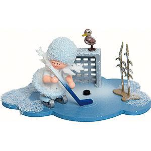 Kleine Figuren & Miniaturen Kuhnert Schneeflöckchen Schneeflöckchen spielt Eishockey - 10x7x6 cm