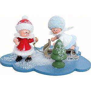 Kleine Figuren & Miniaturen Kuhnert Schneeflöckchen Schneeflöckchen und Weihnachtsmann - 10x7x6cm