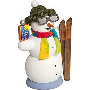 Räuchermänner Schneemänner Schneemann Apré Ski - 13 cm