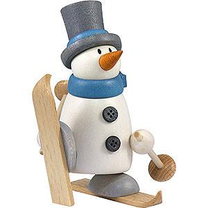 Kleine Figuren & Miniaturen Fritz & Otto (Hobler) Schneemann Fritz mit Ski   - 9cm