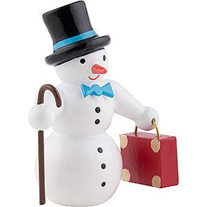 Kleine Figuren & Miniaturen alles Andere Schneemann mit Koffer und Zylinder - 6,5 cm