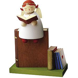 Weihnachtsengel Günter Reichel Schutzengel Schutzengel auf Buch lesend - 3,5cm