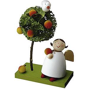 Weihnachtsengel Günter Reichel Schutzengel Schutzengel mit Apfel und Apfelbäumchen - 3,5cm