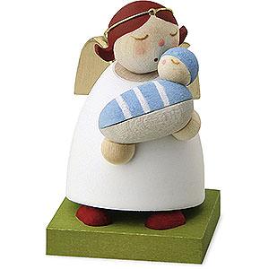 Weihnachtsengel Günter Reichel Schutzengel Schutzengel mit Baby - Junge - 3,5 cm