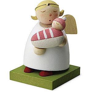 Weihnachtsengel Günter Reichel Schutzengel Schutzengel mit Baby - Mädchen - 3,5cm