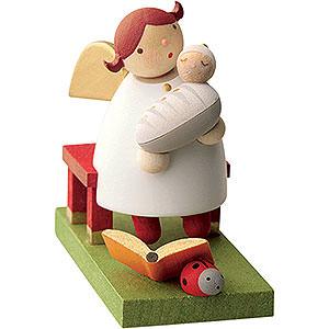 Weihnachtsengel Günter Reichel Schutzengel Schutzengel mit Baby sitzend - 3,5 cm