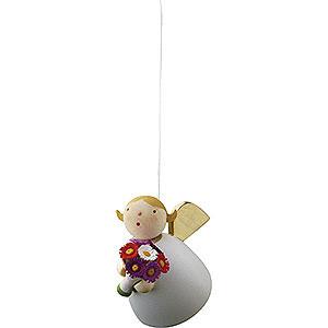 Weihnachtsengel Günter Reichel Schutzengel Schutzengel mit Blume schwebend - 3,5cm