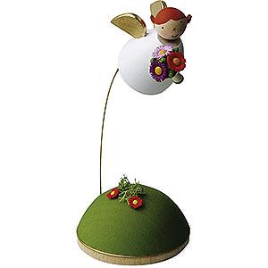 Weihnachtsengel Günter Reichel Schutzengel Schutzengel mit Blume schwebend am Ständer - 3,5cm