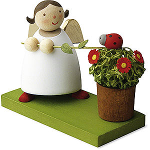 Weihnachtsengel Günter Reichel Schutzengel Schutzengel mit Glückskäfer - 3,5 cm