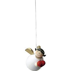 Weihnachtsengel Günter Reichel Schutzengel Schutzengel mit Herz schwebend - 3,5cm