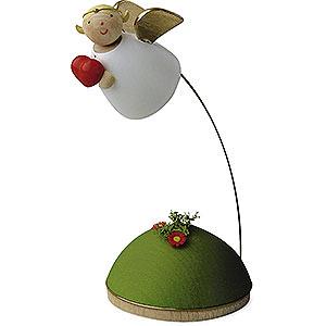 Weihnachtsengel Günter Reichel Schutzengel Schutzengel mit Herz schwebend am Ständer - 3,5cm