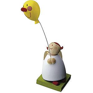 Weihnachtsengel Günter Reichel Schutzengel Schutzengel mit Luftballon mit Gesicht - 3,5cm