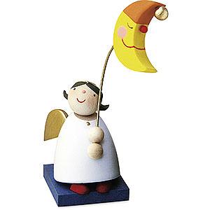 Weihnachtsengel Günter Reichel Schutzengel Schutzengel mit Mondlampion - 3,5cm