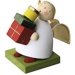 Weihnachtsengel Günter Reichel Schutzengel Schutzengel mit Päckchen - 3,5cm