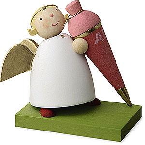 Weihnachtsengel Günter Reichel Schutzengel Schutzengel mit Schultüte - Mädchen - 3,5 cm