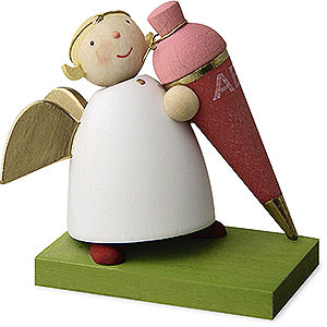 Weihnachtsengel Günter Reichel Schutzengel Schutzengel mit Schultüte - Mädchen - 3,5cm