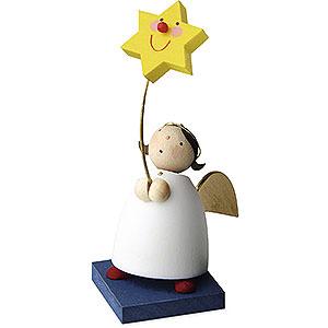Weihnachtsengel Günter Reichel Schutzengel Schutzengel mit Stern am Stab - 3,5cm