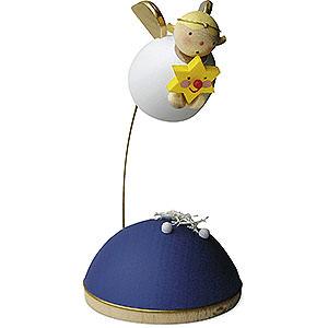 Weihnachtsengel Günter Reichel Schutzengel Schutzengel mit Stern schwebend am Ständer - 3,5cm