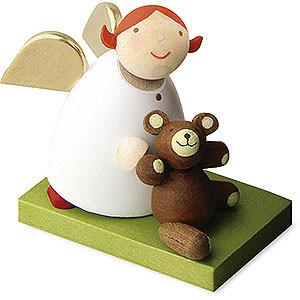 Weihnachtsengel G�nter Reichel Schutzengel Schutzengel mit Teddy - 3,5cm