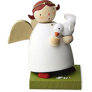 Weihnachtsengel Günter Reichel Schutzengel Schutzengel mit Vogel - 3,5 cm