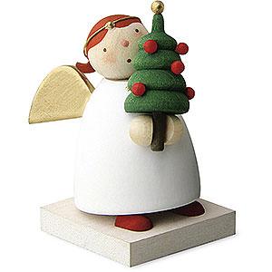Weihnachtsengel Günter Reichel Schutzengel Schutzengel mit Weihnachtsbäumchen - 3,5cm
