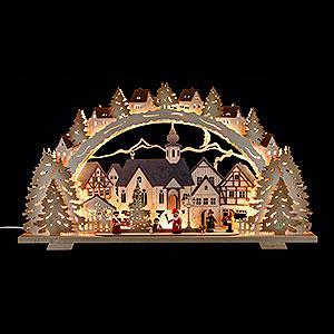Schwibbögen Laubsägearbeiten Schwibbogen Adventszeit exclusiv - 72x41x7 cm