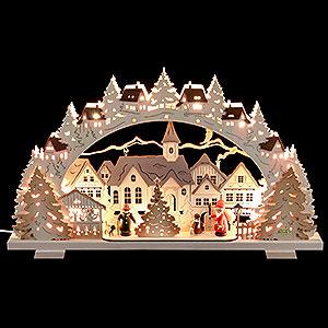 Schwibbögen Laubsägearbeiten Schwibbogen - Adventszeit exklusiv - 53x31x4,5cm