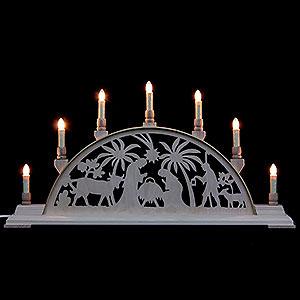 Schwibb�gen Laubs�gearbeiten Schwibbogen - Christi Geburt - 63cm x 32cm