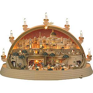 Schwibbögen Mit Innenbeleuchtung Schwibbogen Christi Geburt (limitierte Ausgabe) - 74x28x58 cm