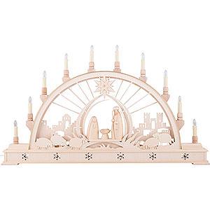 Schwibbögen Laubsägearbeiten Schwibbogen Christi Geburt mit LED-Innenbeleuchtung - 78x45 cm