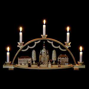 Candle Arches All Candle Arches Schwibbogen Church of Our Lady in Dresden - 47 cm / 19 inch