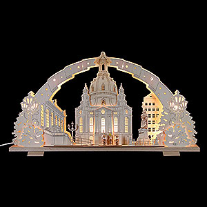 Schwibbögen Laubsägearbeiten Schwibbogen Dresdener Frauenkirche - 72x41x7cm