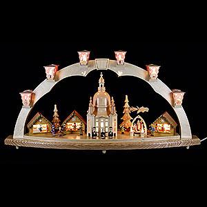 Schwibbögen Mit Innenbeleuchtung Schwibbogen Dresdner Frauenkirche mit Pyramide - 80x40cm