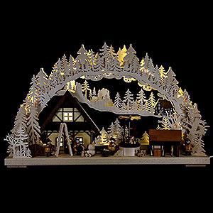 Schwibbögen Laubsägearbeiten Schwibbogen Heimdekoration - 72x43 cm