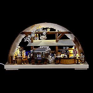 Schwibbögen Laubsägearbeiten Schwibbogen Hofbräuhaus - 43x30cm