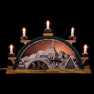 Schwibbögen Mit Innenbeleuchtung Schwibbogen Johanniser mit Bergleuten - 55x31 cm