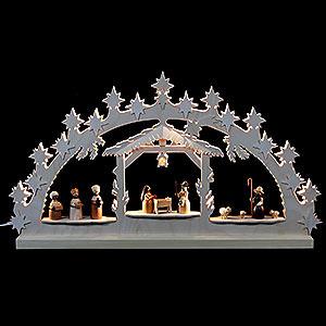 Schwibbögen Laubsägearbeiten Schwibbogen Krippe - 72x40x5,5 cm
