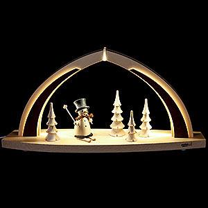 Schwibbögen Alle Schwibbögen Schwibbogen LED modern wood Schneemann natur - 41x20x9,5cm