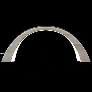 Schwibb�gen Alle Schwibb�gen Schwibbogen Linde natur, mit elektrischer Innenbeleuchtung - 55x23,5cm