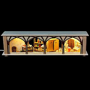 Schwibbögen Schwibbogen-Unterbauten Schwibbogen-Unterbau/Raumleuchte Hauskeller - 50x12x10 cm