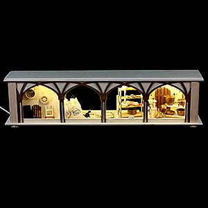 Schwibbögen Schwibbogen-Unterbauten Schwibbogen-Unterbau/Raumleuchte Mehlkammer - 50x12x10cm