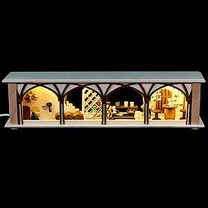 Schwibbögen Schwibbogen-Unterbauten Schwibbogen-Unterbau/Raumleuchte Weinkeller - 50x12x10 cm