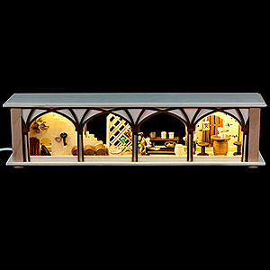 Schwibbögen Schwibbogen-Unterbauten Schwibbogen-Unterbau/Raumleuchte Weinkeller - 50x12x10cm
