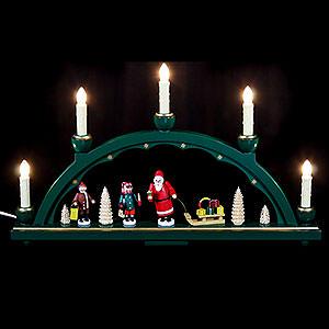 Schwibbögen Alle Schwibbögen Schwibbogen Weihnachtsmann - 48 x 28 cm
