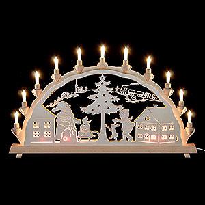 Schwibbögen Laubsägearbeiten Schwibbogen Weihnachtsmann - 68x35cm