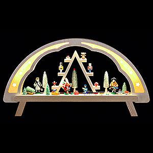 Schwibbögen Alle Schwibbögen Schwibbogen Weihnachtsmarkt - 58x31cm