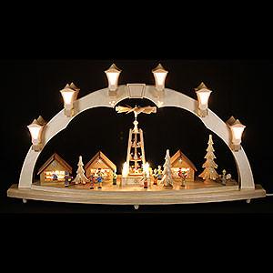 Schwibbögen Mit Innenbeleuchtung Schwibbogen Weihnachtsmarkt - 80 x 43 cm