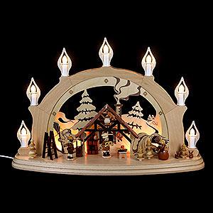 Schwibbögen Alle Schwibbögen Schwibbogen Weihnachtsstube - 57x38x15cm