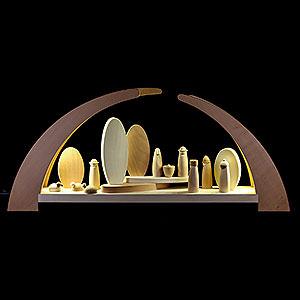 Schwibbögen Alle Schwibbögen Schwibbogen mit Krippenfiguren - 62x25cm